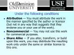 under the following conditions2