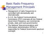 basic radio frequency management principals
