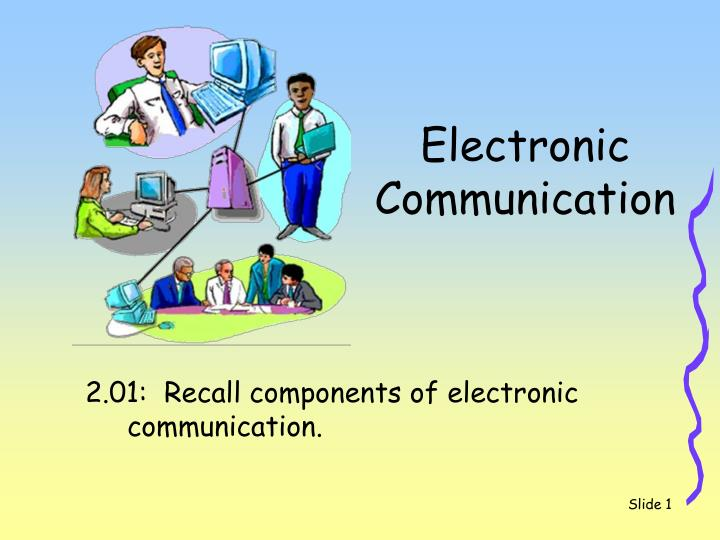 electronic communication n.