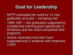 goal for leadership