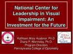 national center for leadership in visual impairment an investment for the future