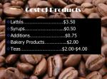 cost of products