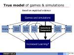 true model of games simulations