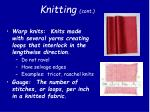 knitting cont