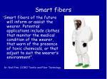 smart fibers