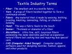 textile industry terms