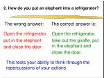 2 how do you put an elephant into a refrigerator