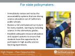 for state policymakers
