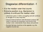 stagewise differentiation 1
