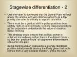 stagewise differentiation 2