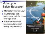 motorcycle safety education
