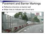 pavement and barrier markings
