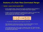 anatomy of a rest mass dominated merger1