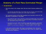 anatomy of a rest mass dominated merger2