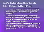 let s take another look at edgar allan poe