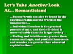 let s take another look at romanticism