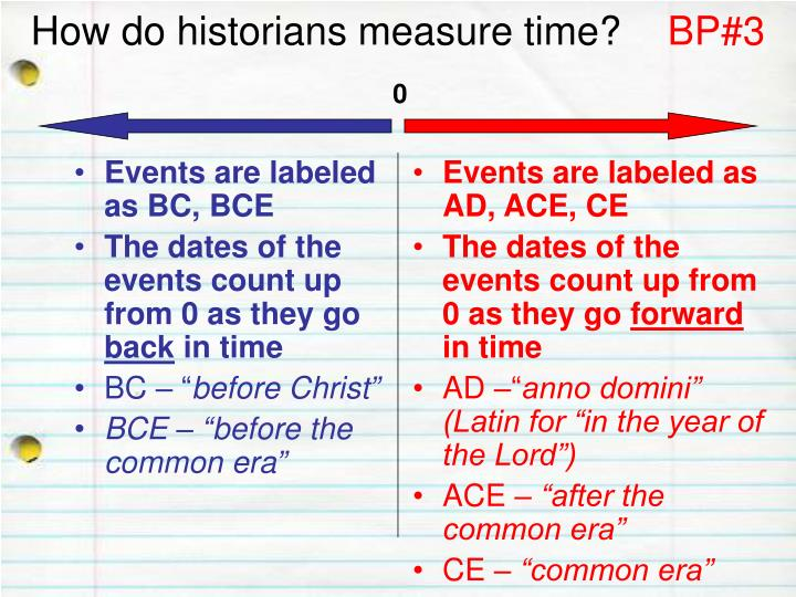 how do historians measure time bp 3 n.