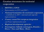 croatian strucutures for territorial cooperation