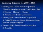initiative i nterreg iii 2000 2006
