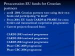 preaccession eu funds for croatian partners