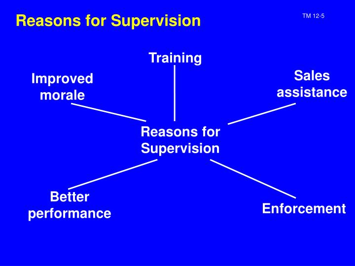 Reasons for Supervision