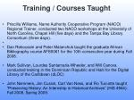 training courses taught