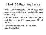 eta 9130 reporting basics1