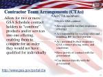 contractor team arrangements ctas