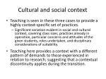 cultural and social context