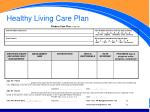 healthy living care plan