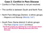 case 2 conflict in pare diocese