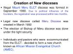 creation of new dioceses