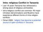 intra religious conflict in tanzania