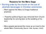 reasons for the meru saga