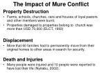 the impact of mure conflict