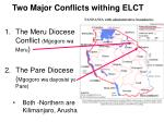 two major conflicts withing elct