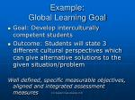 example global learning goal
