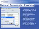 national accounts for payables