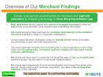 overview of our merchant findings