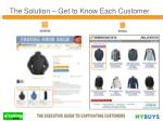 the solution get to know each customer