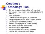 creating a technology plan1