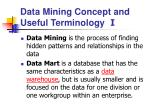 data mining concept and useful terminology i