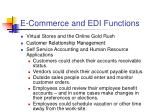 e commerce and edi functions