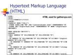 hypertext markup language html