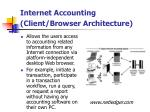 internet accounting client browser architecture