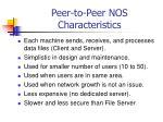 peer to peer nos characteristics