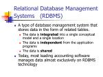 relational database management systems rdbms