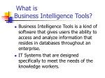 what is business intelligence tools