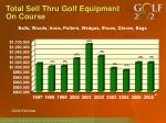 total sell thru golf equipment on course