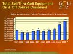 total sell thru golf equipment on off course combined
